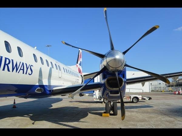 British Airways BA4458 Rotterdam RTM London City LCY Saab 2000 G CDEB *FULL FLIGHT* 1080p HD