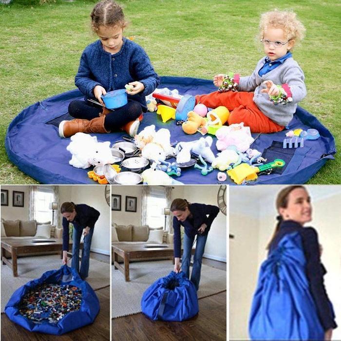 Складной коврик-мешок для игрушек -