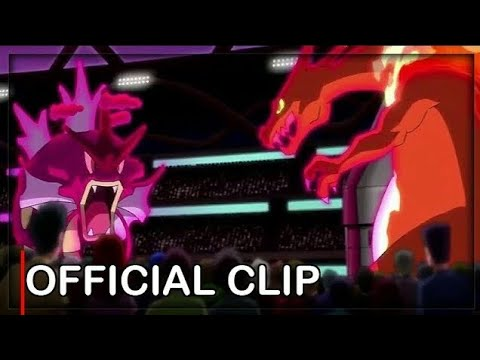 Gigantamax Gyarados vs Dynamax Charizard Pocket Monsters 2019 Episode 12 English Subbed