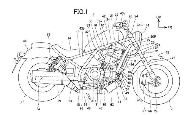 Мотоцикл Honda Rebel 1100 засветился в патенте