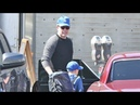 Ben Affleck Sports L.A. Dodgers Cap And Takes Son Samuel To Lunch In His '66 Chevelle
