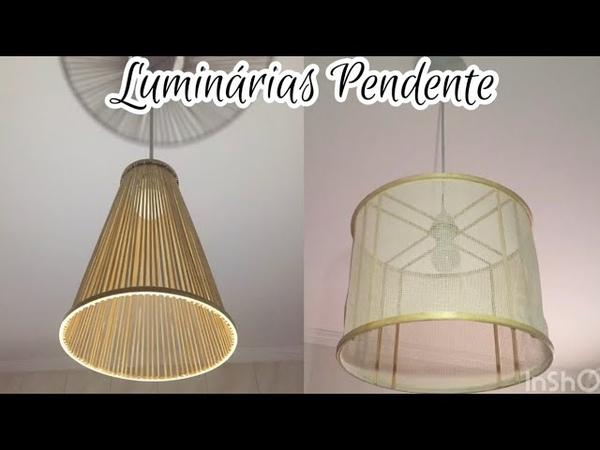 Luminárias pendente de palitos Diy do it yourself hazlo tu mismo ideias