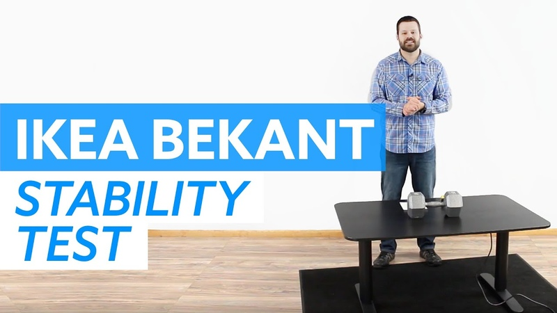 IKEA Bekant Standing Desk Wobble and Rocking Test