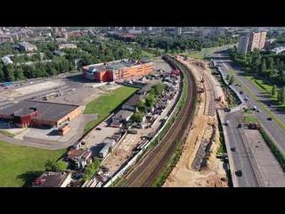 """Строительство платформы """"Петровско-Разумовская"""" на МЦД-1"""