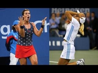 Justine Henin vs Jennifer Capriati - US Open 2003 SF | Henin best backhands (HD)