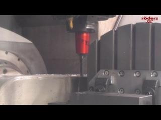Глубокое сверление без СОЖ на станке Rders HSC Milling с тисками Hilma EL160M