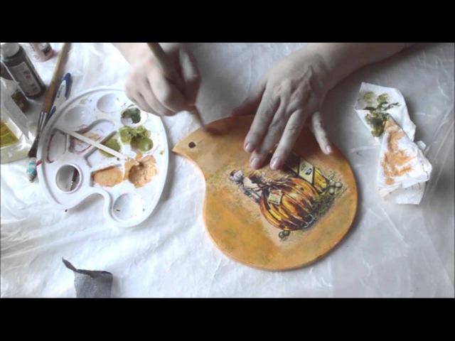 Нитяной кракелюр Daily Art Как получить фарфоровые трещины Полная версия