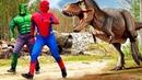Avengers in Jurassic Park SpiderMan and Hulk vs Dinosaurs 2