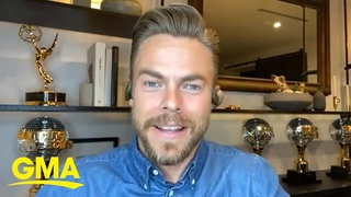 Derek Hough explains which is harder, pro or judge, on 'Dancing with the Stars' l GMA Digital