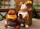 Щедрая осень. Мишка и зайчик с урожаем)) А в валенок можно положить сюрприз, пожелание, сладость. Те