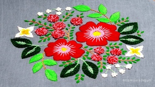 Beautiful Hand Embroidery:Embroidery work for your Table:Cushion:Sofa:pillow cover:Embroidery-134