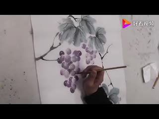 Китайская живопись. Рисуем виноград