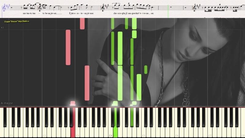 Caruso Lucio Dalla Ноты и Видеоурок для фортепиано piano cover