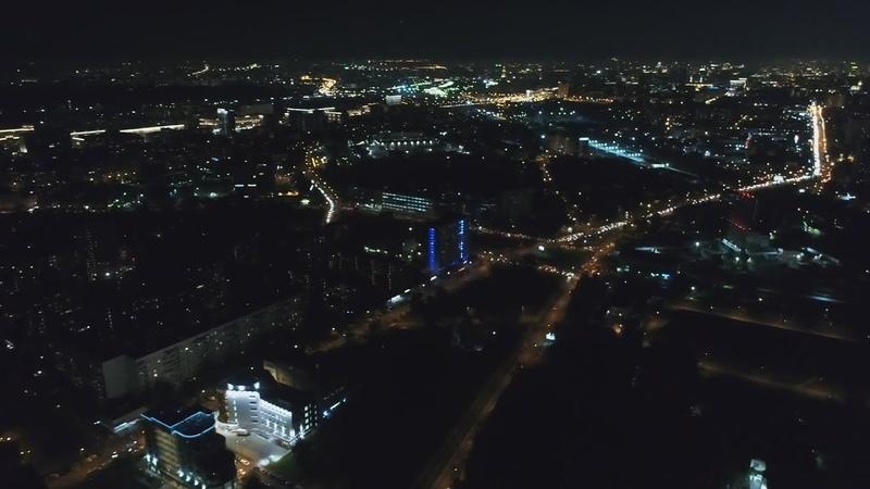 Москва вечером Бурцевская улица ночью под утро в Москве Бусиновская Горка улица днём