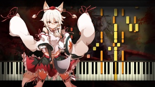 [Piano Solo] Touhou 10 - Fall of Fall ~ Autumnal Waterfall   Synthesia Tutorial   Arrangement