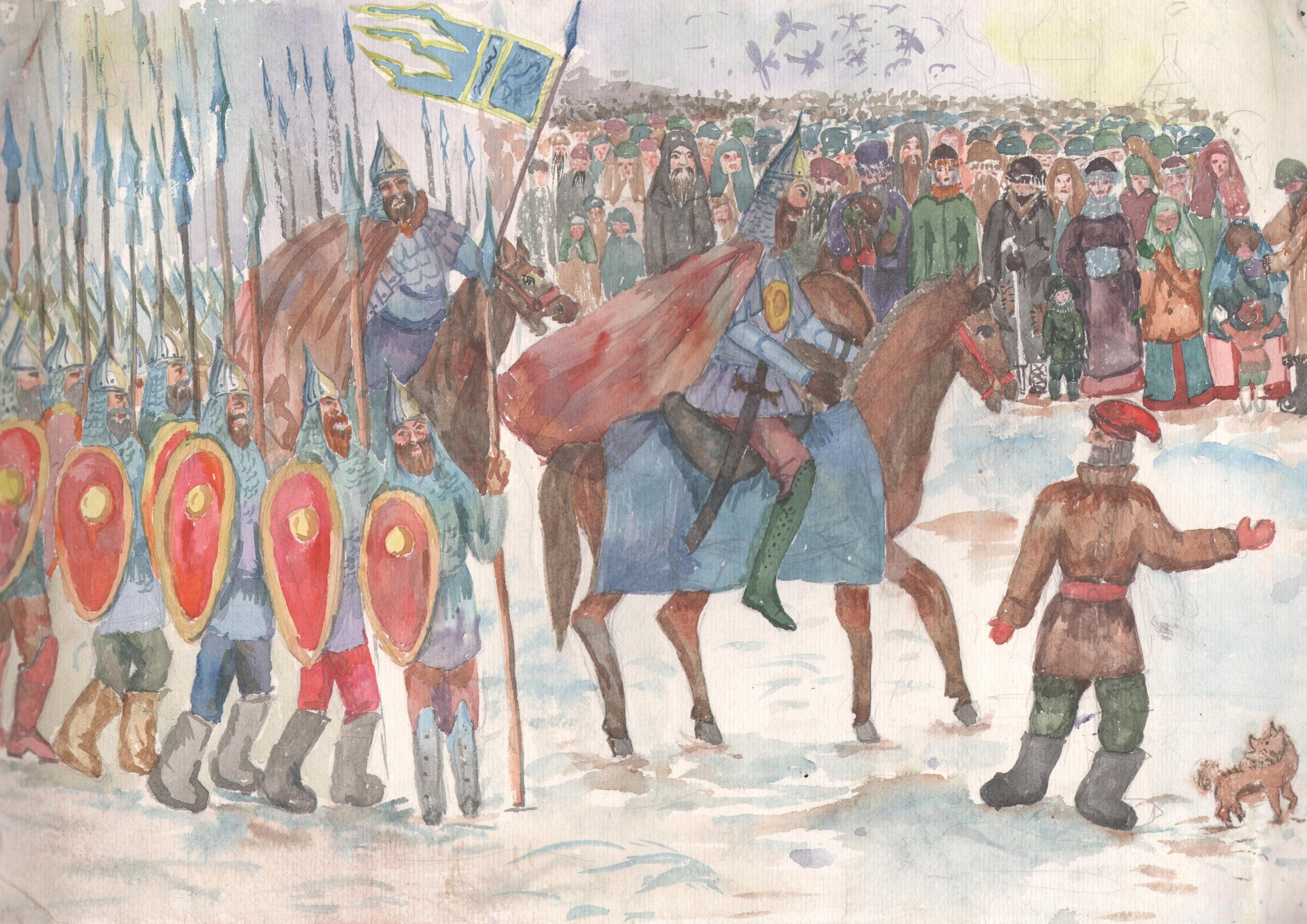Работа на выставке «Историческая картина»