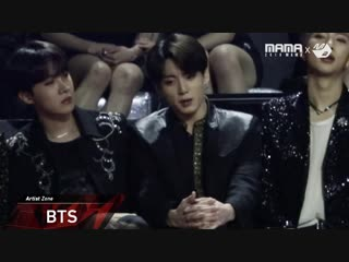 [2018mama x m2] bts reaction to roy kim's performance in hong kong