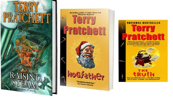 3 GREAT NOVELS BY TERRY PRATCHETT (audio)
