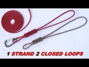 Single Strand 2 Closed Loops - Make a West Country Whipping Paracord Lanyard / Key Fob - DIY CBYS