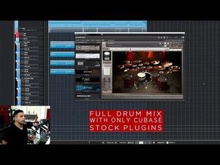 Misha Mansoor: Full Drum Mix with stock Cubase plug-ins
