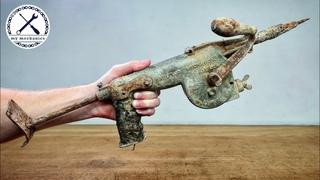 Antique Hand Cranked Hammer Drill - Restoration
