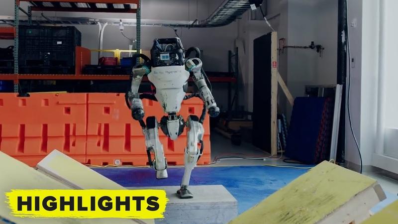 Boston Dynamics Atlas Robots do parkour Watch it here