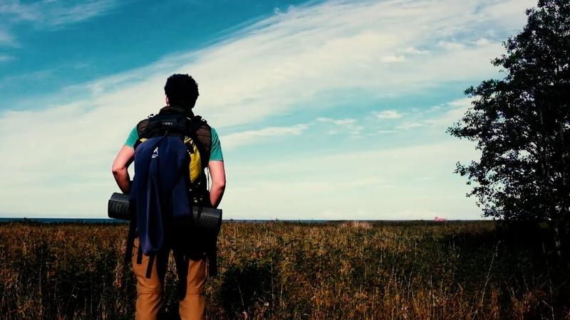Кургальский заказник, осень 2020 (Kurgalsky National Park - hike around the peninsula with doberman)