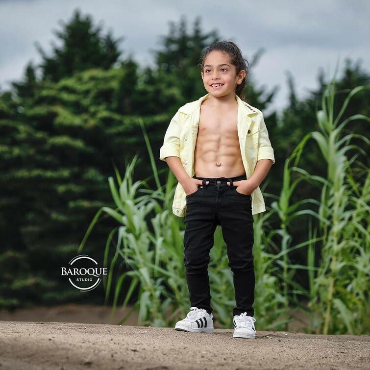 6-летний иранский мальчик Арат Хоссейни с потрясающим накаченным телом