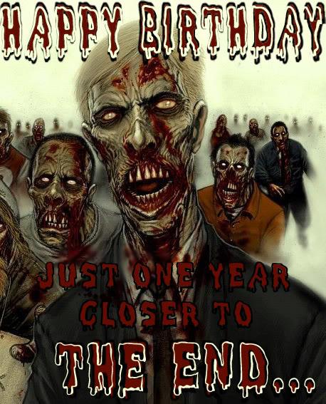Открытки с зомби с днем рождения
