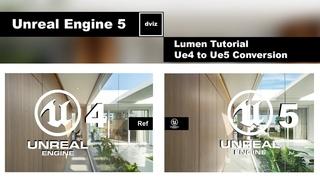Unreal Engine 5 - Lumen Tutorial Ue4 / UE5 Comparation