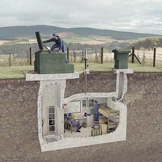 Мини бункер на участке - можно построить самим...