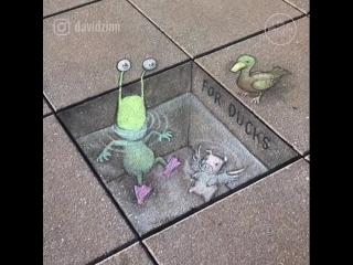 David Zinn. Street #art