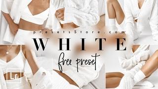 White — Mobile Preset Lightroom 2020   Tutorial   Free   Snow White Tone   Instagram Blogger Preset