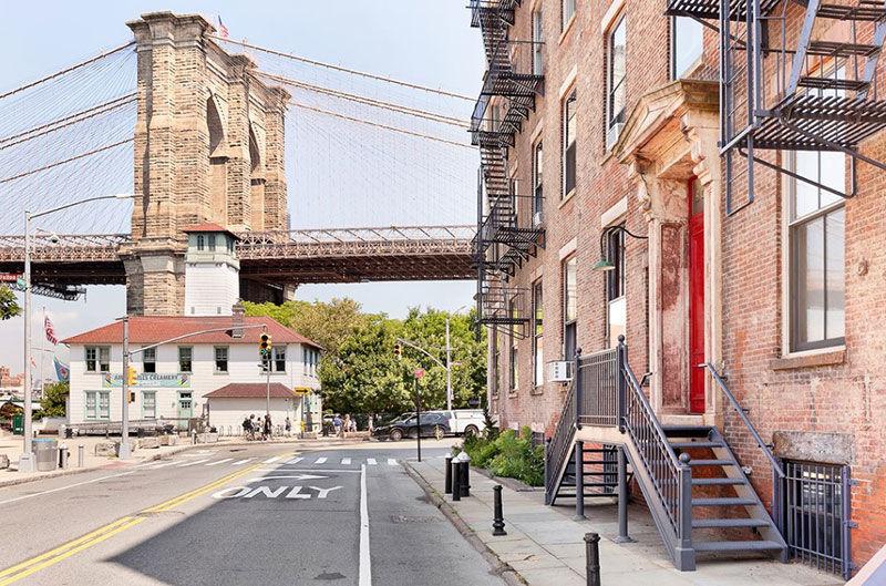 Настоящий американский лофт с видом на Бруклинский мост