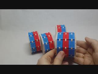 Буквенные цилиндры набор из 4-х штук