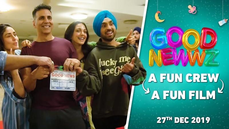 BehindTheGoodNewwz | Fun Crew = Fun Film | Akshay, Kareena, Diljit, Kiara, Raj | Good Newwz | 27Dec