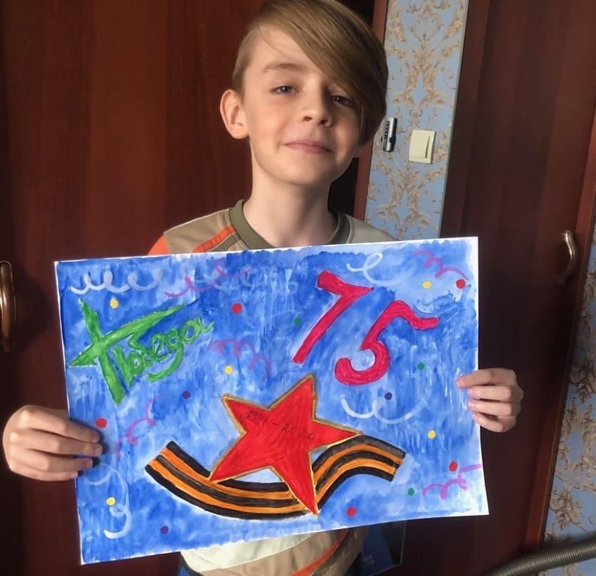 Школьники из Петровска — участники регионального конкурса открыток, посвящённых Дню Победы