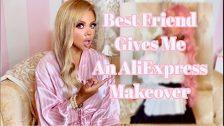 ALIEXPRESS HAUL TRY ON  BEST FRIEND GIVES ME AN ALIEXPRESS MAKEOVER