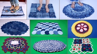 10 Beautiful Doormat Making || Old Clothes Reuse Idea || Jeans Handmade Things