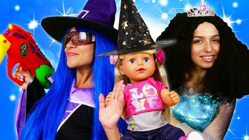 Игры одевалки для Куклы Беби Бон Принцессы Диснея идут на Карнавал Смешное видео с Baby Born