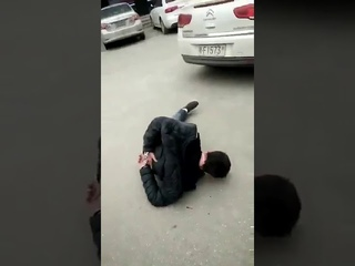 Chinese Police Brutally Beating A Uighur Youth