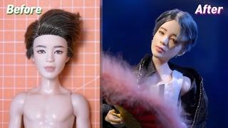 BTS Jimin (지민) x Mattel Dolls Repaint: Fan Dance Costume at MMA 2018 /방탄소년단 마텔 인형 리페인팅