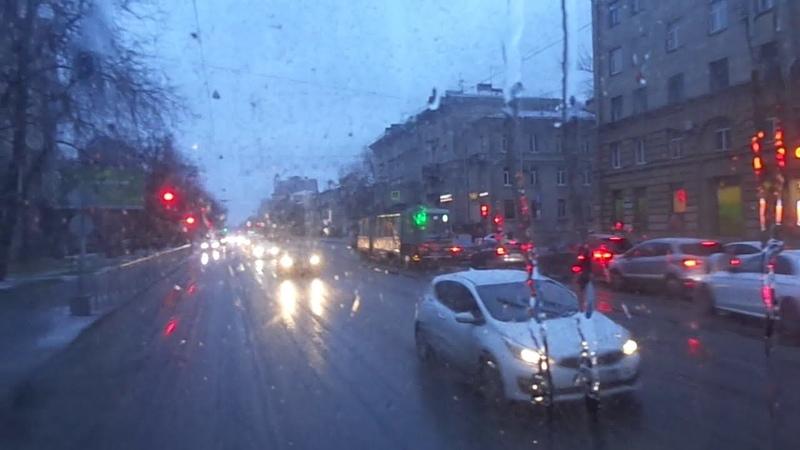 Трамваи стоят пришлось ехать на 40 автобусе Петербурга 10 *** МАЗ 107 466 б 2247 по №40 18 11 20