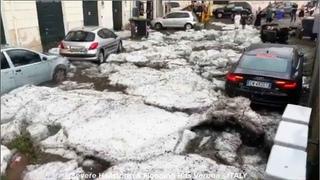 PERFECT STORM - Hailstorm in VERONA - Severe hailstorm hits Verona, Italy -  - COMPILATION