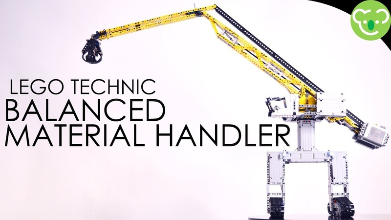 Balanced Material Handler Inspired from Sennebogen 8130EQ MOC Lego Technic with double SBrick