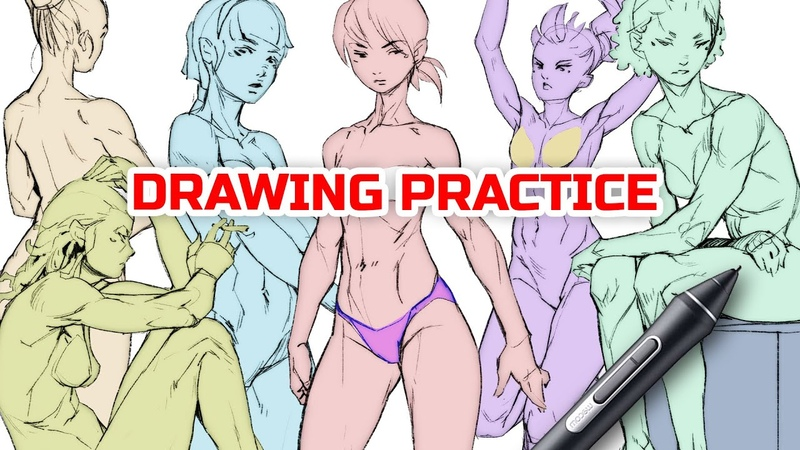 🙋🏼♀️ DRAWING THE FEMALE BODY construction explained