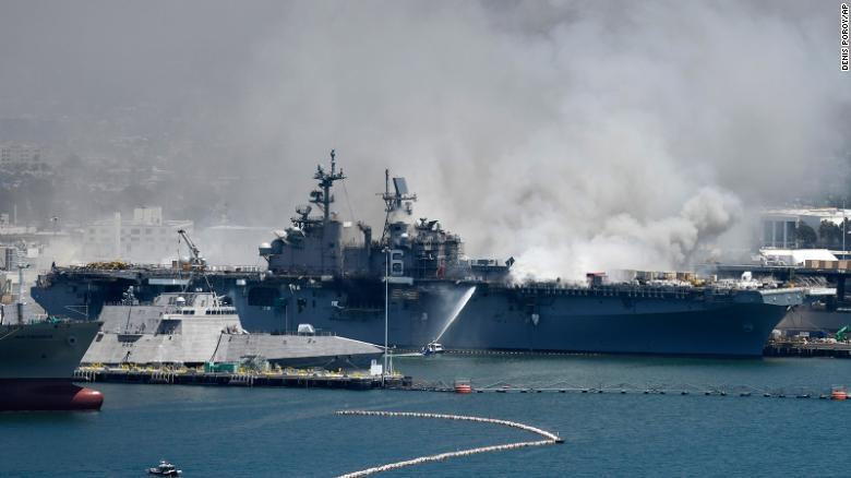 USS Bonhomme Richard, военно-морская база Сан-Диего, США. Фото CNN.
