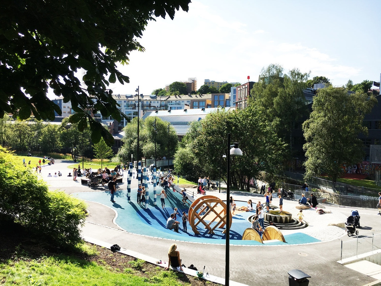 Nedre Foss Park by Norconsult