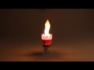 Свеча музыкальная (как работает)