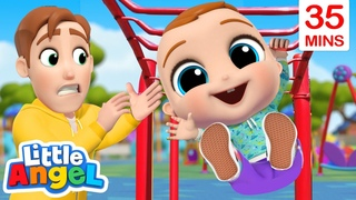 Play Safe At The Playground | Safety Song +More Little Angel Kids Songs & Nursery Rhymes